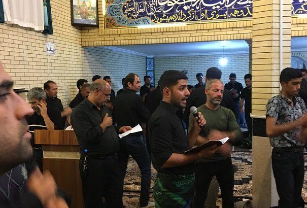 گزارش تصویری از سینه زنی شب تاسوعا در مسجد آقابابا فرامرزی