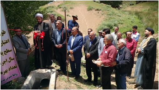 افتتاح پروژه های عمرانی وسیستم های نوین آبیاری به مناسبت هفته جهادکشاورزی در شهرستان چاراویماق