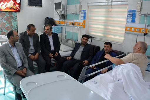عیادت رئیس کل دادگستری استان آذربایجان شرقی از جانباز جهادگر دکتر حاج حسین همتی