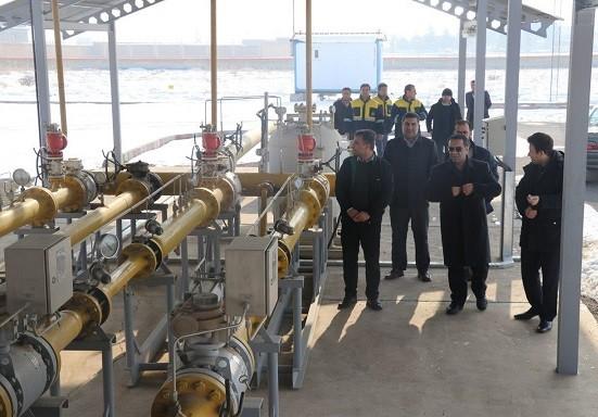 بازدید فرماندارشهرستان بناب ازایستگاه های گازرسانی
