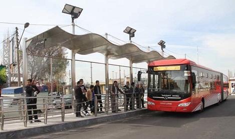 خدمات رسانی ویژه ناوگان اتوبوسرانی در یوم الرغائب
