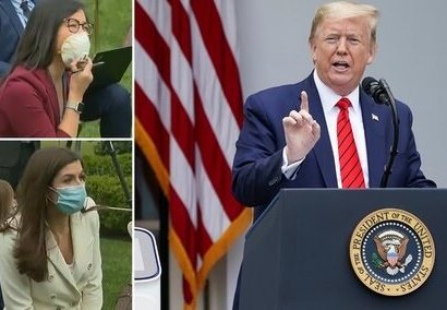 تصویر رفتار و حرفهای زننده ترامپ باردیگرسوژه رسانهها شد: این سوال را از من نپرس،این سوال را از چین بپرس؛باشد؟! /مردم در هر شرایطی میمیرند/عکس