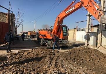 آغاز پروژه زیرسازی و آسفالت کویهای صنعتی منطقه ۶ تبریز