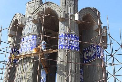 اتمام مرمت یادمان شهدای گمنام عون بن علی / نصب یادبود شهدای گمنام و شهدای مدافع حرم در تفرجگاه عینالی