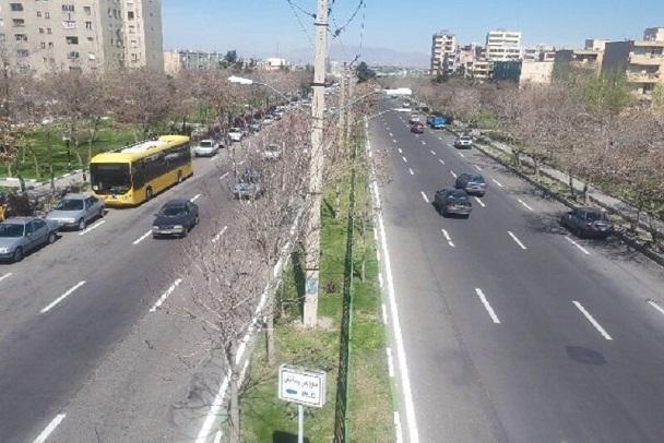 اجرای عملیات گسترده خط کشی در حوزه شهرداری منطقه ۷ تبریز