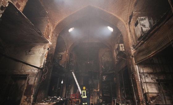 علت آتشسوزی سرای دو دری بازار تبریز طی چند روز آتی اعلام میشود