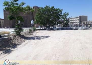 اتمام عملیات خاکریزی و مسطحسازی ضلع شمالغربی ارک علیشاه