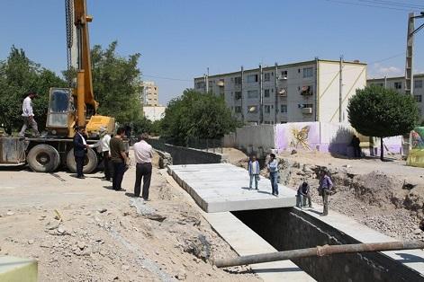 اجرای عملیات دال گذاری پروژه اتصال فاز ۲ و ۳ کانال رواسان