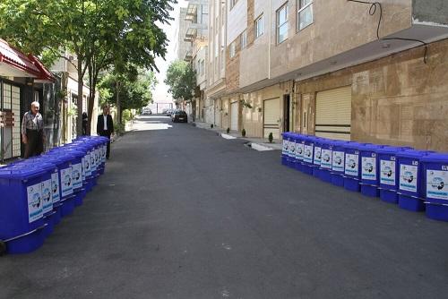 توزیع باکسهای تفکیک پسماند خشک در واحدهای مسکونی » محله سبز»