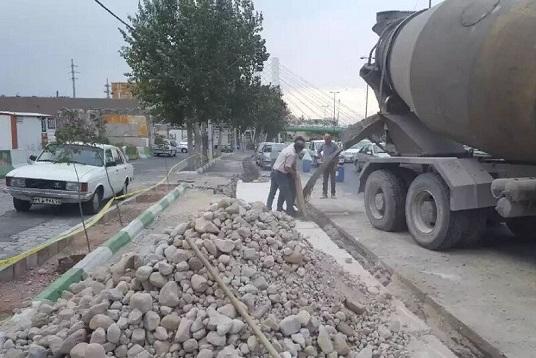 اجرای عملیات باکس گذاری مسیر دروازه تهران از پل اتحادملی تا میدان شهید حمید باکری