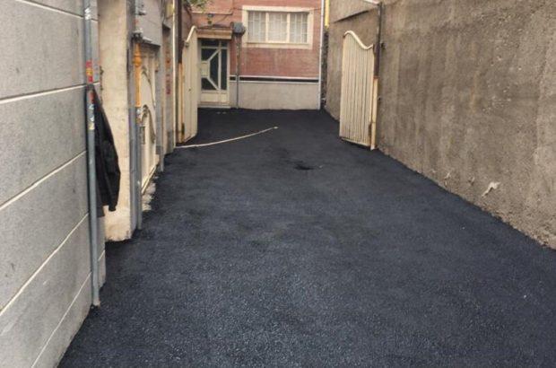 اجرای عملیات آسفالت ریزی معابر سطح حوزه شهرداری منطقه ۶ تبریز