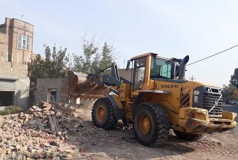 شهردار منطقه ۶ تبریز خبر داد:اجرای عملیات تعریض خیابان تلاش در محله قراملک