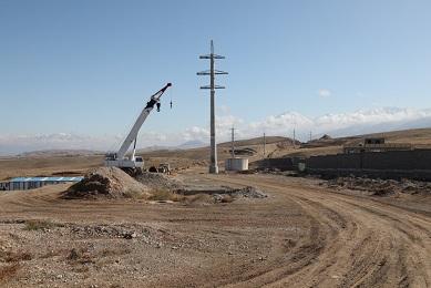 خط ۱۳۲کیلو ولت دومداره سایت صنایع سنگین ارس در دست احداث است