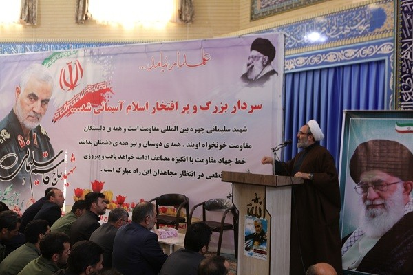 مراسم گرامیداشت شهید سپهبد حاج قاسم سلیمانی و دیگر شهدای مقاومت درشهر ورزقان