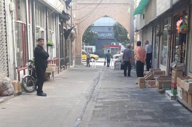 بازار سیگارفروشان تبریز سنگ فرش شد
