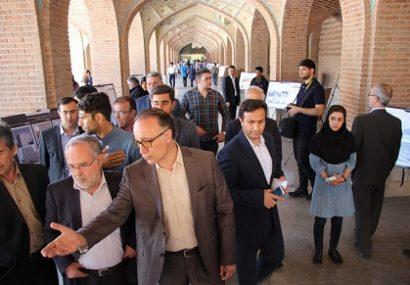 افتتاح نمایشگاه دستاوردهای مرمت ۱۳۹۷ آذربایجان شرقی
