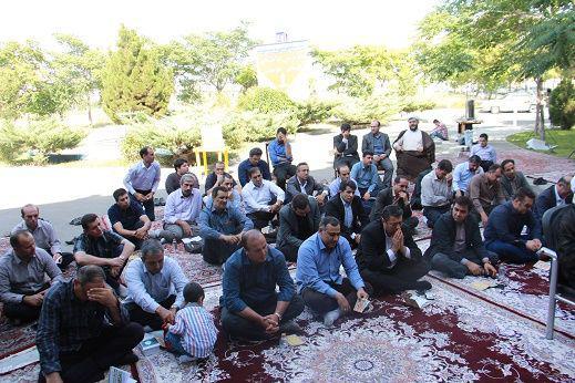 گزارش تصویری از برگزاری مراسم پر فیض دعای عرفه در محل دانشگاه علمی و کاربردی تبریز