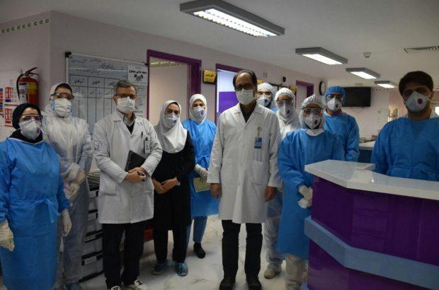 گزارش تصویری ازبخش های قرنطینه بیماران کرونایی دربیمارستان امام رضا (ع)تبریز