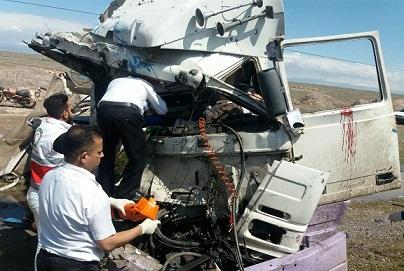 تصادف شدید چند خودرو در مسیر جاده ارومیه بالاتر از پادگان سید الشهدا +تصاویر