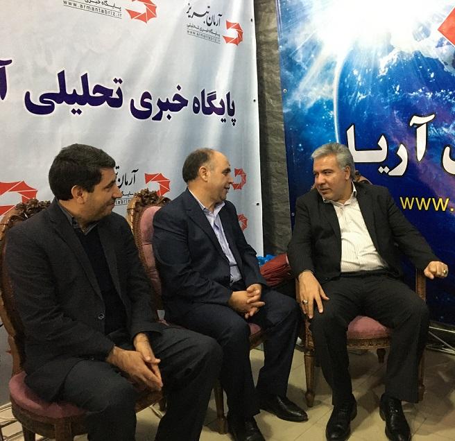 بازدیدفرماندار محترم تبریز ازخبرگزاری آریا و پایگاه خبری آرمان تبریز