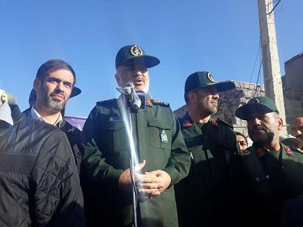 فرمانده سپاه پاسداران انقلاب اسلامی:  سپاه تا پایان بازسازی کنار مردم باقی خواهد ماند