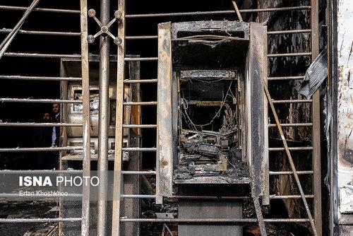 خسارت به اموال عمومی در تهران، شیراز، اصفهان، اهواز و تبریز (عکس)